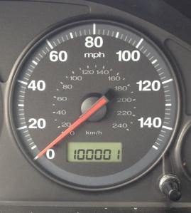 100,001 miles on speedometer